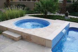mosaic tiled round in ground spas jacuzzi covers signature h full size