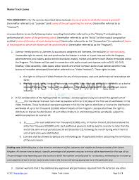 Film Contract Templates Master Track License for TV Film Contract Template 1