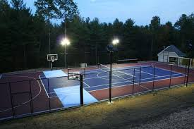 outdoor basketball court lighting project