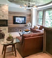 fireplace furniture arrangement. Corner Fireplace Furniture Arrangement With Two Sofas And A Chair. Dual Focal Point TV U