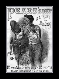 arleyart com manly bathroom art poster mens shaving art grooming art vintage pears shaving soap ad