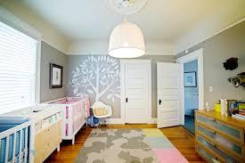 baby nursery yellow grey gender neutral. Midcentury-Modern Nursery For Twins Features Whimsical Touches   Regan Baker HGTV Baby Yellow Grey Gender Neutral N