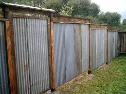 solid metal fence. Corrugated Metal Fence Diy Stylish Ideas Fencing Exciting All Recycled Lush . Solid
