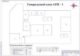 Диплом Проект организации поста диагностики лесотранспортных машин Генеральный план АТП 1