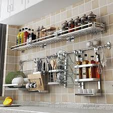 inch stainless steel kitchen wall rail