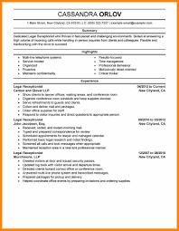 11 Receptionist Job Description Resume Bill Pay Calendar