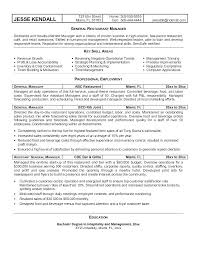 Hotel General Manager Resume Inspiration General Manager Resume Examples Sample Professional Resume