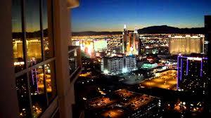 Mgm Signature One Bedroom Balcony Suite Night View From Balcony At The Signature At Mgm Grand Las Vegas