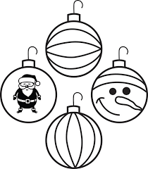Small Picture Free Printable Christmas Ornaments Coloring Page for Kids 4