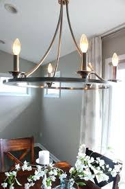 swag chandelier over dining table awe inspiring it s a life new kitchen goodbye home interior