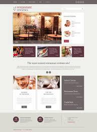 Website Design Review Website Template 49230 Review Restaurant Food Custom