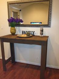 image of tall pallet entryway table cheap entryway furniture