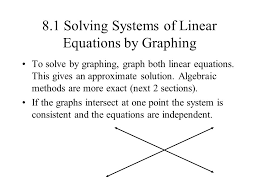 8 1 solving systems of linear equations by graphing