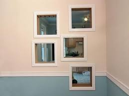 framing mirrors with crown molding