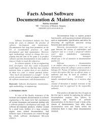 Software Documantation Pdf Facts About Software Documentation And Maintenance