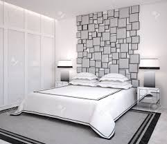 Modern Interior Bedroom Modern Bedroom Interior 3d Render Stock Photo Picture And