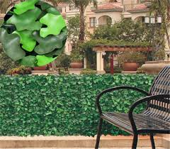 china hedge fence and artificial plant