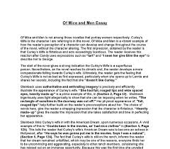 writing introductions for of mice and men character analysis essay to the old wise man candy the friendship between him and his dog is the most important thing in this world character analysis curley in of mice and men