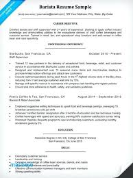 Barista Resume Custom Barista Experience On Resume Wwwnmdnconference Example