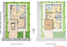 west facing house plans for 60x40 site beautiful 60 45 north facing individual house floor plan