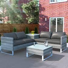 rno rattan outdoor corner sofa set
