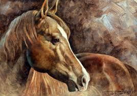 horse painting horse head 3 by arthur braginsky