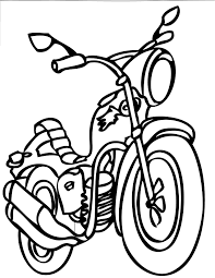 Motorcycle 95 transportation printable coloring pages