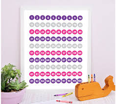 Numbers 1 To 100 Counting Playroom Decor Education Wall Art Number Chart Printable Number Poster Education Printable Number Printable