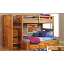 Honey Twin Full Staircase Bunk Bed Discovery World Furniture