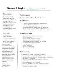 resume for cnc machinist