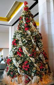 Christmas Tree Ribbon Decorating Ideas Topper With Garland Shirt How  Tochristmas