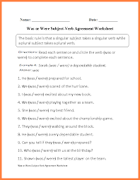 6+ compound subject verb agreement worksheets | Purchase Agreement ...