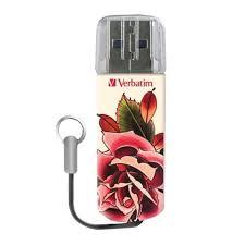 """<b>Флэш</b>-<b>диск 32 GB</b>, <b>VERBATIM</b> Tattoo, USB 2.0, """"Роза"""" – купить по ..."""