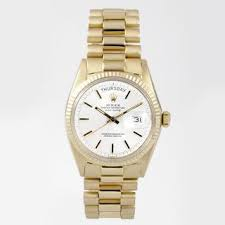 pre owned rolex men s watches shop the best deals for 2017 pre owned rolex men s president yellow gold white dial watch