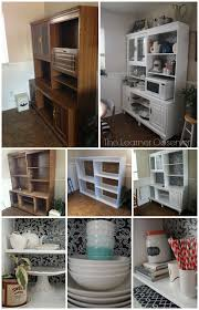 hutch kitchen furniture. Before And After: 80\u0027s Wall Unit To White Kitchen Hutch, The Learner Observer Featured Hutch Furniture A
