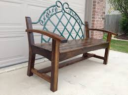 Headboard To Bench Garden Bench From Headboard Woodworking For Mere Mortals