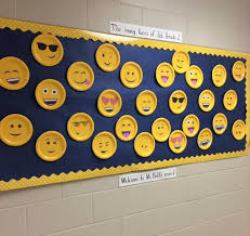 office bulletin board ideas yellow. use square yellow pages for lego people headsemoji bulletin board idea great back to school office ideas