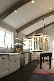 ceiling lighting for kitchens. Lighting For Exposed Beam Ceilings Unconvincing Kitchen Traditional With Home Ideas Lights In Ceiling Beams Between . View Gallery Kitchens F