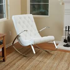 modern white lounge chair. Image Is Loading Barcelona-City-Luxury-Modern-Design-White-Leather-Rocking- Modern White Lounge Chair O