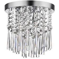 home decorators collection 10 in 3 light chrome and crystal flushmount 22431fm 15 the home depot