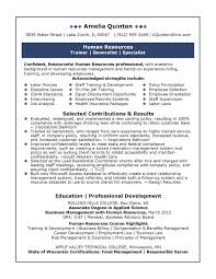 Examples Of Hr Resumes 84 Images Hr Executive Resume Sample