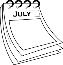 4th Of July Calendar Paper Coloring Page Wecoloringpagecom