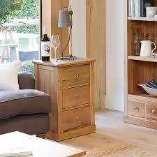 image baumhaus mobel. Baumhaus Mobel Oak Three Drawer Lamp Table (COR10B) Image )