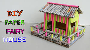 How To Make House With Chart Paper How To Make Paper House Newspaper Crafts