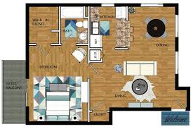 2d magnolia contains 1 bedroom and 1 bathroom in 750 square feet of living space