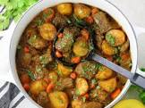 beef curry and potatoes
