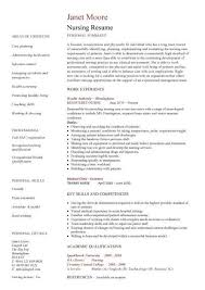 Resume Template Nursing Amazing Nursing CV Template Nurse Resume Examples Sample Registered