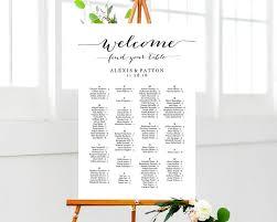 Alphabetical Wedding Seating Chart Template Alphabet Image
