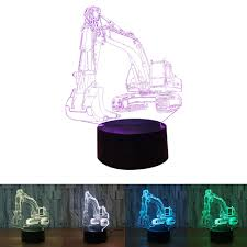 Details About Lot 3d Illusion Touch Control Led Lamp 7 Colors Change Kids Night Light Sightly