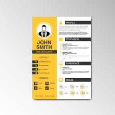download cv curriculum vitae design vector free download